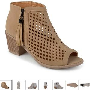Shoes - Journee Collection Pixie Peep Toe Ankle Boot